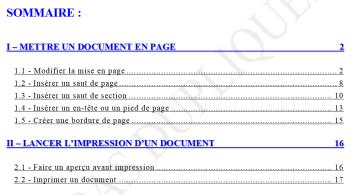 Mettre un document en page