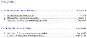 Sommaire_Acheter malin sur Internet!