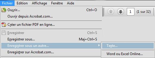 Convertir un PDF en fichier texte
